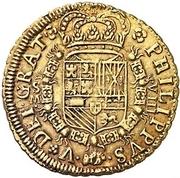 8 Escudos - Felipe V (Seville,mintmark in obverse) – obverse