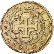 8 Escudos - Felipe V (Seville,mintmark in obverse) – reverse