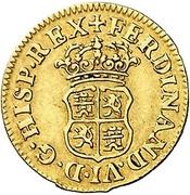½ Escudo - Fernando VI (Madrid) – obverse