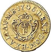 ½ Escudo - Fernando VI (Madrid) – reverse