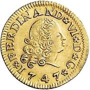 ½ Escudo - Fernando VI (Seville) – obverse