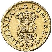 ½ Escudo - Fernando VI (Seville) – reverse