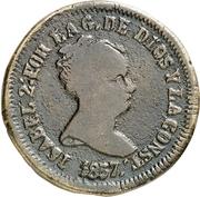 8 Maravedis - Isabel II (Pamplona) – obverse