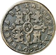 8 Maravedis - Isabel II (Pamplona) – reverse