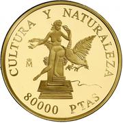 80 000 Pesetas - Juan Carlos I (Leda Atomica) – reverse