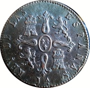 8 Maravedis - Fernando VII (Segovia,Constitutional) – reverse