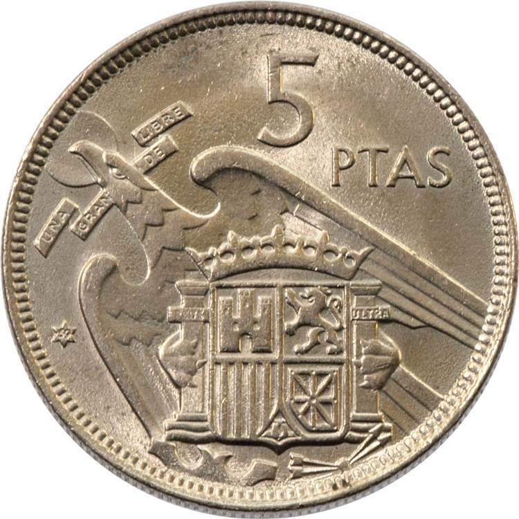 5 Pesetas Francisco Franco