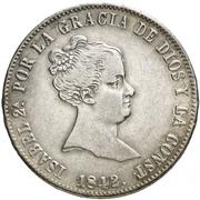 10 Reales - Isabel II – obverse