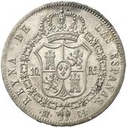 10 Reales - Isabel II – reverse