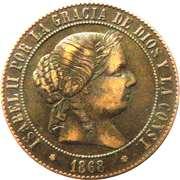 5 Centimos de Escudo - Isabel II – obverse