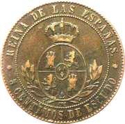 5 Centimos de Escudo - Isabel II – reverse