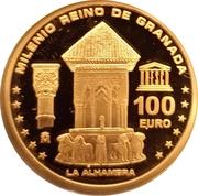 100 Euro - Juan Carlos I (Granada) -  reverse