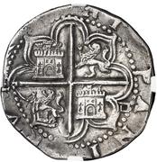 4 Reales - Felipe II (Seville) -  reverse