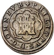 4 Maravedis - Felipe II (Segovia) – obverse