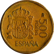 500 Pesetas - Juan Carlos I -  reverse