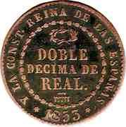 2 Decimas de Real - Isabel II – reverse