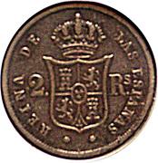 2 Reales - Isabel II – reverse