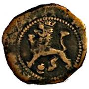2 Maravedis - Felipe II (low grade billon; latin legend) – reverse