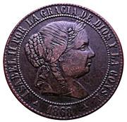2½ Centimos de Escudo - Isabel II – obverse