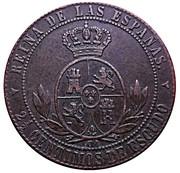 2½ Centimos de Escudo - Isabel II -  reverse