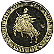 80 000 Pesetas - Juan Carlos I (Balthasar Charles) – reverse