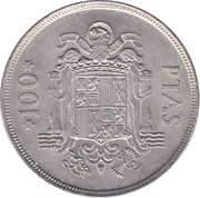 100 Pesetas - Juan Carlos I -  reverse