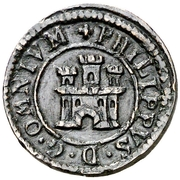 1 Maravedi - Felipe II (Segovia,milled) – obverse