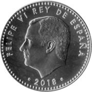 30 Euro - Felipe VI (50th Birthday of King Felipe VI) -  obverse
