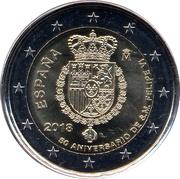 2 Euro (50th Birthday of King Felipe VI) -  obverse