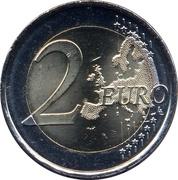 2 Euro (50th Birthday of King Felipe VI) -  reverse