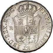 8 Reales - Jose I Bonaparte – reverse