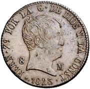 8 Maravedis - Fernando VII (Jubia,Constitutional) – obverse