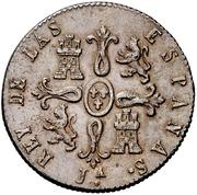 8 Maravedis - Fernando VII (Jubia,Constitutional) – reverse
