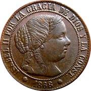 ½ Centimo de Escudo - Isabel II – obverse