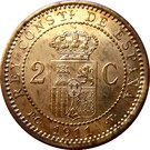 2 Centimos - Alfonso XIII (5th portrait) – reverse