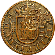 8 Maravedis - Felipe III (milled,countermark) -  obverse