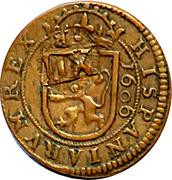 8 Maravedis - Felipe III (milled,countermark) -  reverse