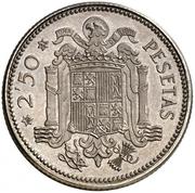 2 ½ Pesetas (Trial Strike in Silver) – reverse