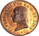 1 Centimo - Alfonso XIII (5th portrait) – obverse