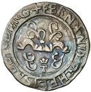 ½ Real - Fernando and Isabel (Toledo) – obverse