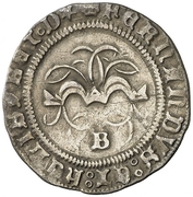 ½ Real - Fernando and Isabel (Burgos) – obverse