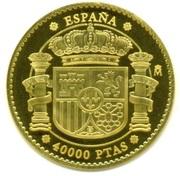 40 000 Pesetas - Juan Carlos I (Charles V) – obverse