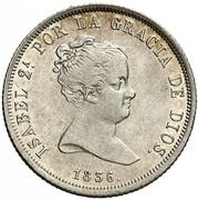 4 Reales - Isabel II (DIOS) – obverse