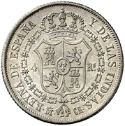 4 Reales - Isabel II (DIOS) – reverse