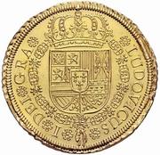 8 Escudos - Luis I – obverse