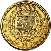 8 Escudos - Felipe VI (Segovia) – obverse