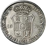 10 Reales de vellon - Jose I Bonaparte – reverse