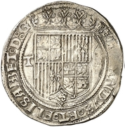 4 Reales - Fernando and Isabel (Toledo) – obverse