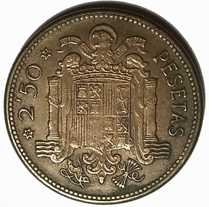 2½ Pesetas Francisco Franco