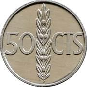 50 Centimos - Juan Carlos I -  reverse